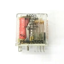 NEW Philips ECG RLY2560 5 ~ 6 Volt DC Coil, 5A 4PDT Relay