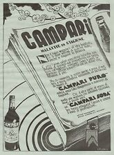 J0241 Campari Soda - Pubblicità formato grande del 1934 - Old advertising
