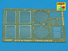 PHOTO-ECTHED MESH/GRILLES FOR PZKPFW V AUSF.A/D PANTHER   #35G01 1/35 ABER