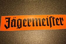 "1 x Jagermeister 15.5"" x 4 "" black / orange Sticker"