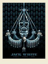 Methane Studios Jack White L'Oympia, Paris II France Poster White Stripes S/N'd