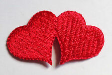 Iron On Patch Applique - Double Heart