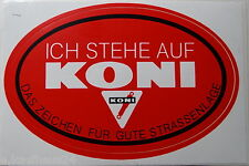 Aufkleber KONI Stossdämpfer shock absorbers Motorsport Sticker Autocollant