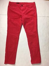Womens Sz 16 KUT from the Kloth hot Pink Diana Skinny Stretch Corduroy Cord Jean