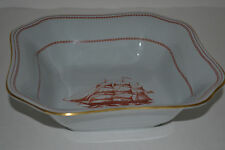 SPODE TRADE WINDS RED 9'' SQUARE VEGETABLE BOWL/SHIP PEPPERELL