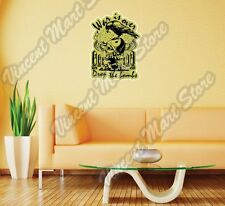 "War Is Over Nuclear Bomb Skull Gift Wall Sticker Room Interior Decor 20""X25"""