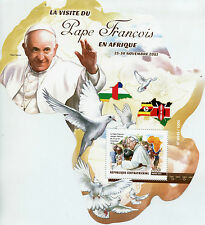 Central African Republic 2015 MNH Pope Francis Visits Africa 1v S/S Doves Birds