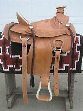 NEW Hand Tooled Wade Ranch Saddle 16 in. Seat