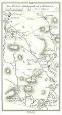Antique map, Roads from Ennis to Innistymond and Kilfenora, Clare to Kilrush