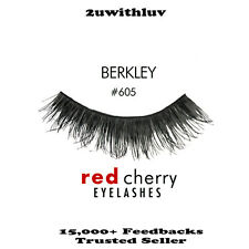 RED CHERRY 100% HUMAN HAIR BLACK FALSE EYE LASHES #605 BRAND NEW