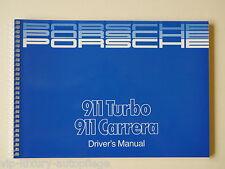Anglaise Manuel Driver 's Manuel porsche 911 turbo Carrera G-modèle