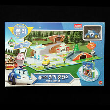 RoboCar Poli Electric Charging Station Blooms Town Map Diecast Play Set Academy