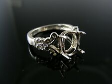 R145 RING SETTING STERLING SILVER, SIZE 7.25, 10X8 MM OVAL STONE