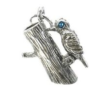 VINTAGE SILVER MOVING WOODPECKER CHARM