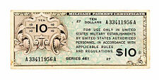 US MPC Series 461 10 Dollars P-M5 f-vf 1946-47 small stain