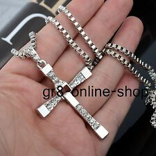 Fashion Unisex Men Stainless Steel Cross Pendant Necklace Chain Silver/Gold Gift