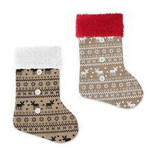 Navidad Regalo Decoración de Hesse Reno Medias Yute Bolsa Fiesta Santa saco nórdico