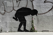"Banksy - Better Out Than In  -24""x36"" Canvas Print Urban Graffiti"