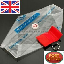 Rescue CPR Resuscitator Mask Keychain Key Ring Emergency Face Shield First Aid