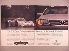 Mercedes-Benz 500 SL Double-Page PRINT AD - 1991 ~~ C11 Silver Arrow
