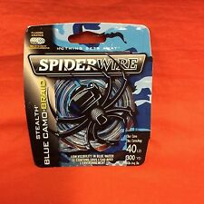 SPIDERWIRE Stealth Camo Braid Fishing Line 40 lb (300 yd) #SCS40BC-300 Blue Camo