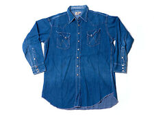 RARE VTG 1950'S Wrangler BLUE BELL SANFORIZED Denim western Shirt