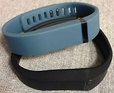 Replacement Large L 1pc Black 1pc Slate Band + Clasps for Fitbit Flex /NoTracker