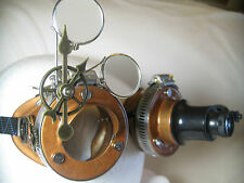 Pro Steampunk Safety Goggles Copper Clockwork Top Hat Costume Head Gear LED