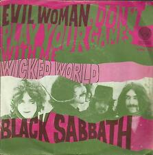 "BLACK SABBATH Evil Woman/Wicked World HOLLAND original 7"" PS heavy metal !!"
