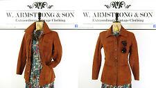 Women's Burnt Orange GENUINE SUEDE LEATHER 70's Boho MOD VINTAGE Jacket UK 8