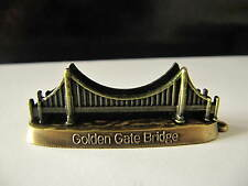 GOLDEN GATE BRIDGE Metal Brass Gold Souvenir Building SAN FRANCISCO