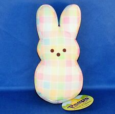 Peeps - Pastel Plaid Bunny - Bean Bag Plush - Easter - NEW