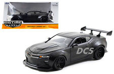 JADA  BIGTIME 2016 CHEVY CAMARO WIDE BODY 1/24 WITH GT WING MATTE BLACK 98136BK