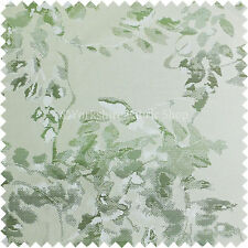 Artistic Paint Stroked Large Floral Pattern Green White Colour Upholstery Fabric