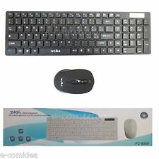 TASTIERA E MOUSE WIRELESS WIFI KEYBOARD + MOUSE WIFI NERA