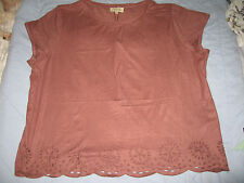 New wine coloured faux suede t-shirt - size 20