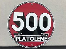 500 Platoelene oil gasoline garage man cave  vintage round sign
