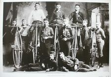 HIGH WHEEL BICYCLES 1883 poster cm. 50 x 35