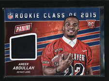 AMEER ABDULLAH 2015 PANINI FATHERS DAY ROOKIE CLASS USED WORN JERSEY AB5566