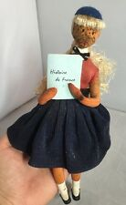 Vintage French School Girl Doll By Raymond Peynet In Af Condition 1950's 1960's