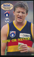 1993 AFL Football Record West Coast Eagles vs Geelong Cats August 27 28 29