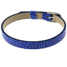 Dark Blue Design Fashion Jewelry Silver Plated Leather Sport Bracelet Style FREE