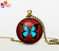 mariposa butterfly necklace collar steampunk vintage camafeo collares charms