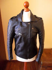 vintage 80`s RÖMER Motorrad Lederjacke alte motorcycle leather jacket punk 42