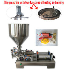 double head piston filler,paste filling machine with heating and mixing function