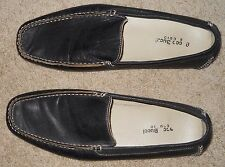 Men's Bacco Bucci Leather Driver Moccasin Loafers Slip On Shoes Black Sz 13