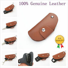 Remote Smart Key Entry Protective Leather Holder Fob Case Cover for Toyota Honda
