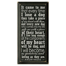 It Came To Me Wooden Dog Wall Sign Plaque - Dog Lover Gift