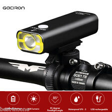 GACIRON USB Rechargeable Waterproof Bike Cycling LED Flashlight Torch Headlight