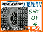 (SET OF 4) 265 70 R17 PRO COMP XTREME MT2 MUD TERRAIN TYRES - PICKUP BAYSWATER